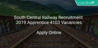 South Central Railway Recruitment 2019 Apprentice 4103 Vacancies