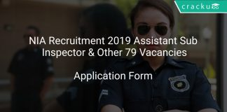 NIA Recruitment 2019 Assistant Sub Inspector & Other 79 Vacancies
