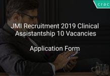JMI Recruitment 2019 Clinical Assistantship 10 Vacancies