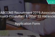 NABCONS Recruitment 2019 Associate Project Consultant & Other 22 Vacancies