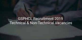 GSPHC Recruitment 2019