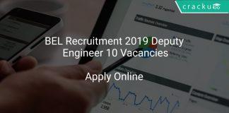 BEL Recruitment 2019 Deputy Engineer 10 Vacancies