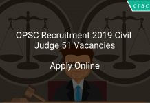 OPSC Recruitment 2019 Civil Judge 51 Vacancies