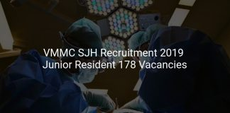 VMMC SJH Recruitment 2019 Junior Resident 178 Vacancies
