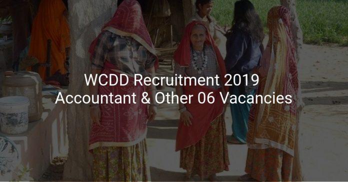 WCDD Recruitment 2019