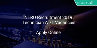NTRO Recruitment 2019 Technician A 71 Vacancies