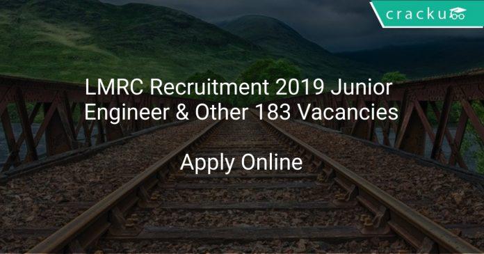 LMRC Recruitment 2019