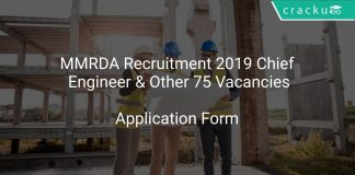 MMRDA Recruitment 2019 Chief Engineer & Other 75 Vacancies
