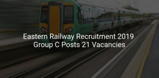 Eastern Railway Recruitment 2019