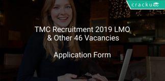 TMC Recruitment 2019 LMO & Other 46 Vacancies