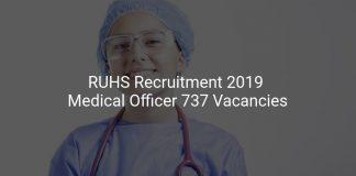 RUHS Recruitment 2019