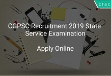 CGPSC State Service Examination 2019