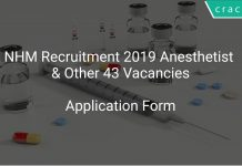 NHM Recruitment 2019 Anesthetist & Other 43 Vacancies