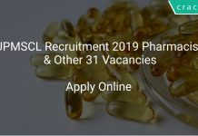 UPMSCL Recruitment 2019 Pharmacist & Other 31 Vacancies