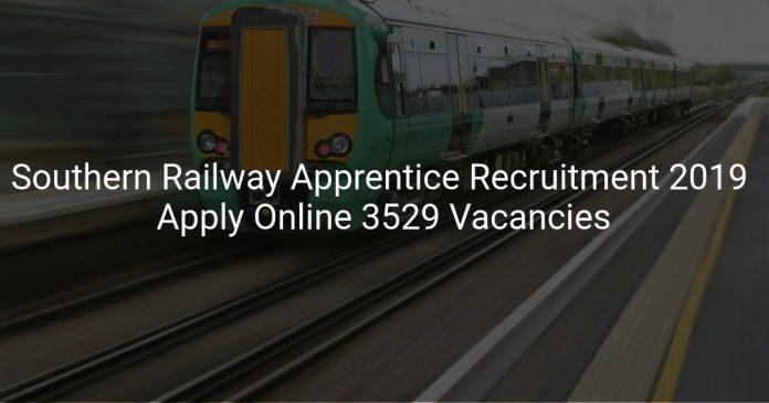 Southern Railway Apprentice Recruitment 2019