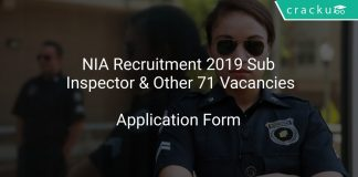 NIA Recruitment 2019 Sub Inspector & Other 71 Vacancies