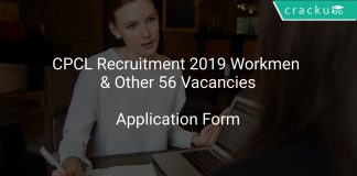 CPCL Workmen Recruitment 2019