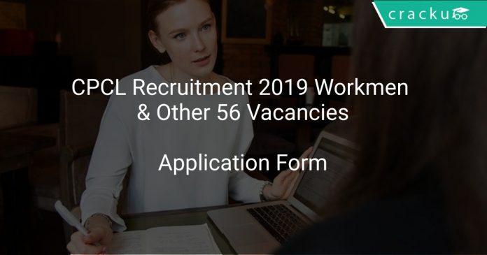 CPCL Workmen Recruitment 2019
