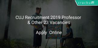 CUJ Recruitment 2019 Professor & Other 23 Vacancies