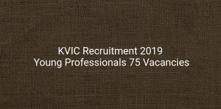 KVIC Recruitment 2019