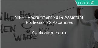 NIFFT Recruitment 2019 Assistant Professor 22 Vacancies
