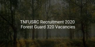 TNFUSRC Recruitment 2020