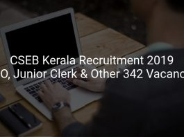 CSEB Kerala Recruitment 2019