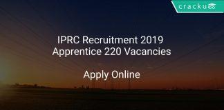 IPRC Recruitment 2019