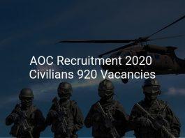 AOC Recruitment 2020