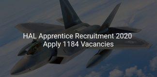 HAL Apprentice Recruitment 2020