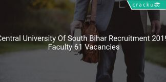 Central University Of South Bihar Recruitment 2019