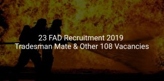 23 FAD Recruitment 2019