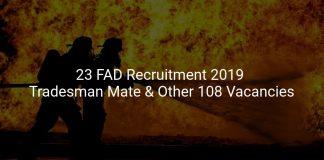 23 FAD Recruitment 2019