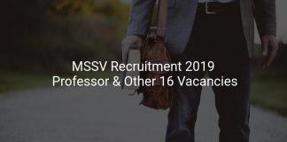MSSV Recruitment 2019