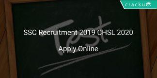 SSC Recruitment 2019 CHSL 2020