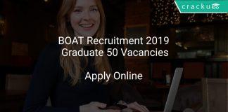 BOAT Recruitment 2019 Graduate 50 Vacancies