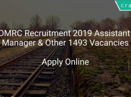 DMRC Recruitment 2019 Assistant Manager & Other 1493 Vacancies