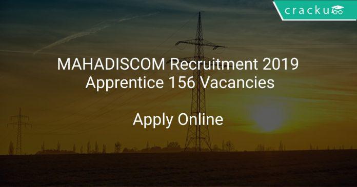 MAHADISCOM Recruitment 2019 Apprentice 156 Vacancies
