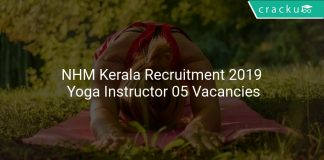NHM Kerala Recruitment 2019 Yoga Instructor 05 Vacancies