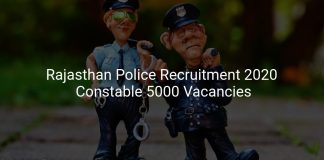 Rajasthan Police Recruitment 2020