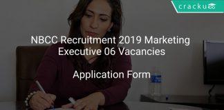 NBCC Recruitment 2019 Marketing Executive 06 Vacancies