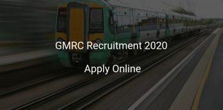 GMRC Recruitment 2020