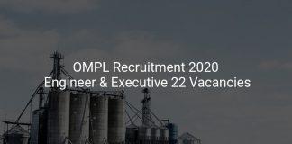 OMPL Recruitment 2020
