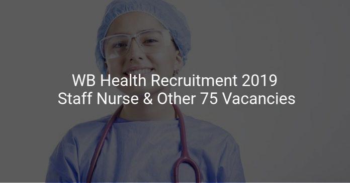 WB Health Recruitment 2019