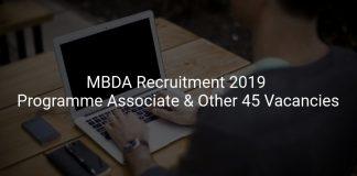 MBDA Recruitment 2019