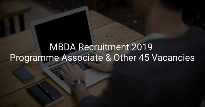 MBDA Recruitment 2019