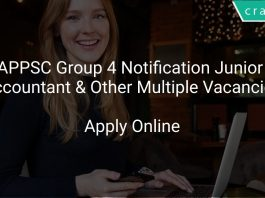 APPSC Group 4 Notification 2020