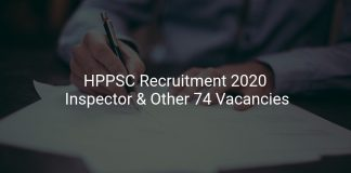 HPPSC Recruitment 2020