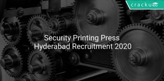 Security Printing Press Hyderabad Recruitment 2020