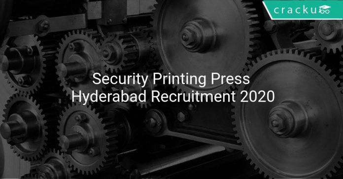 Security Printing Press Hyderabad Recruitment 2020